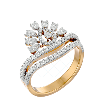 Captivating Caress Diamond Ring In Pink Gold For Women v1
