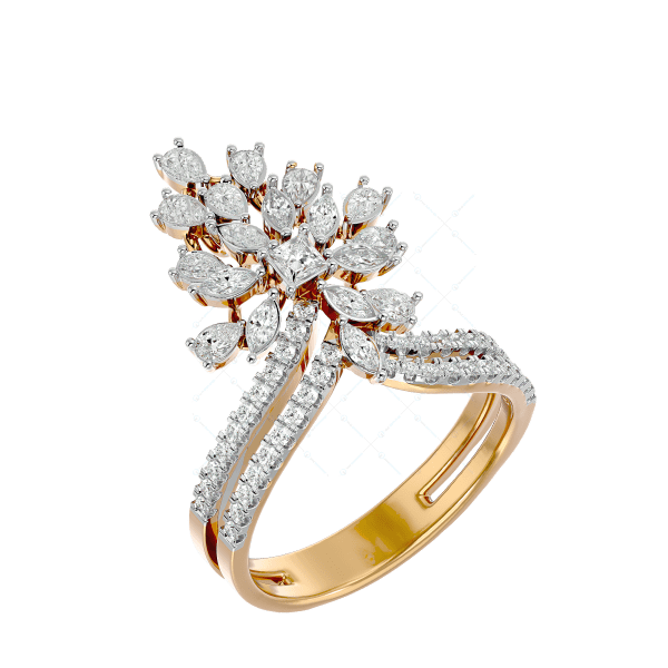 Blooms Of Venus Diamond Ring In Pink Gold For Women v1