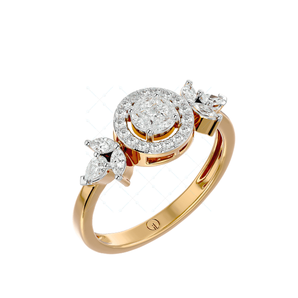 Captivating Circlet Diamond Ring In Yellow Gold For Women v1