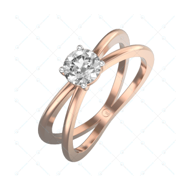 0.40 ct Eternal Promise Solitaire Engagement Ring in Pink Gold For Women v1