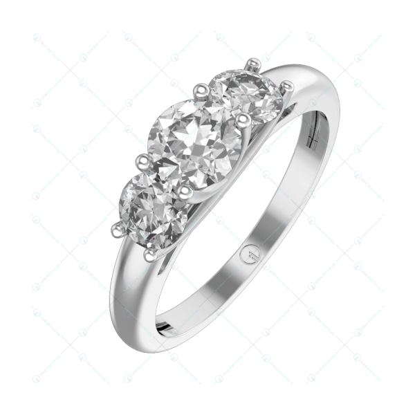 0.40 ct Alexa Solitaire Engagement Ring in White Gold For Women v1