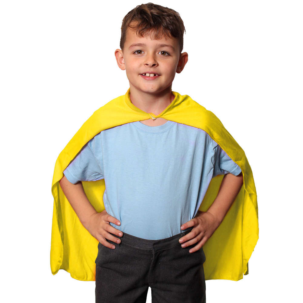 Childs Yellow Cape I Love Fancy Dress