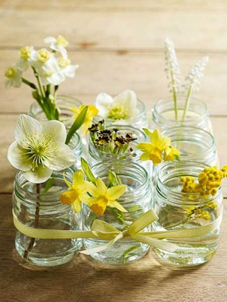Arranjo de Flores Naturais para Festa Cabelo Decorao