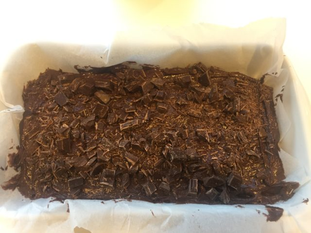 Karamelliseret lime brownie