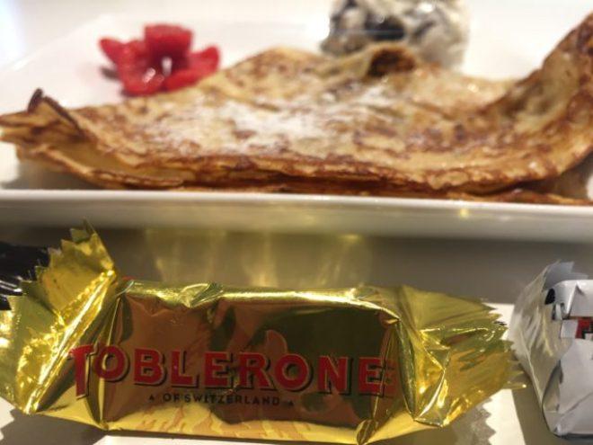 Lækre pandekager med tobleronemix