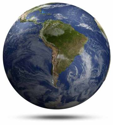 NASA image of South America
