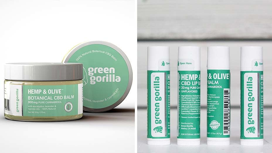 Green Gorilla organic cbd topicals and lip balms