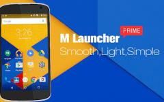 M Launcher Pro-Marshmallow 6.0 1.4.5 APK / Atualizado.