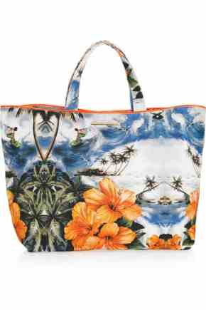 Stella McCartney Hawaiian-print canvas shopper £345