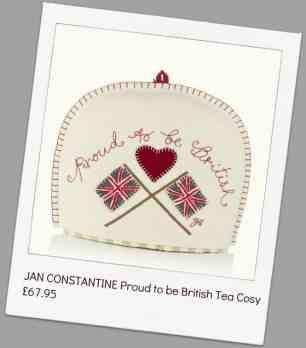JAN CONSTANTINE Proud to be British Tea Cosy £67.95
