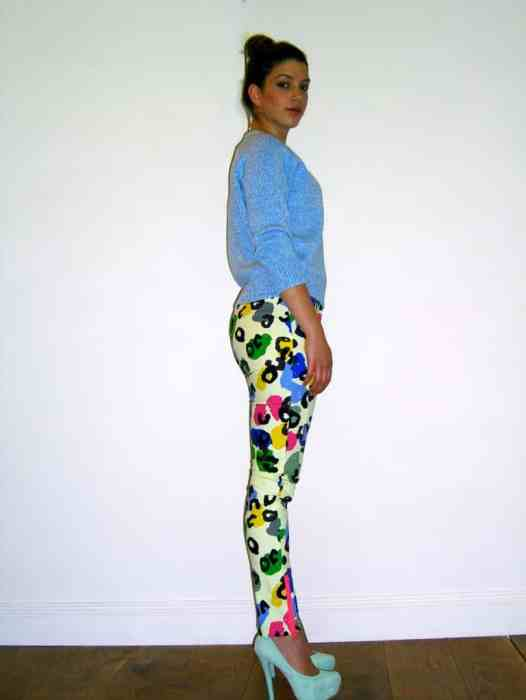 Sara Wears Camilla and Marc Rainbow Leopard New English Jeans £275.00