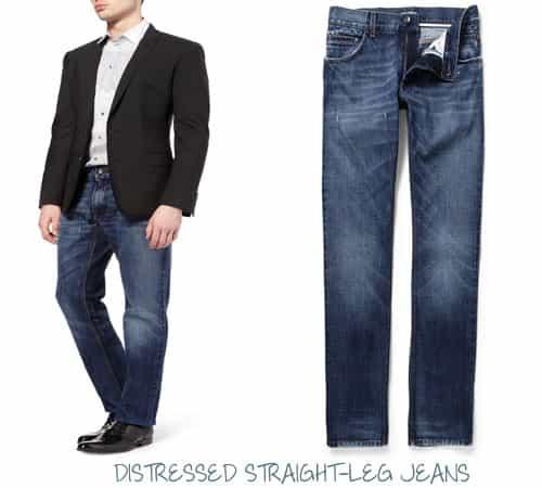 Brad Jet Black Men/'s Wizard Jeans