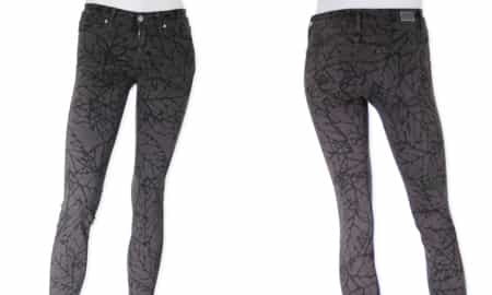 PAIGE SKYLINE ANKLE PEG SKINNY IN LEAF PRINT