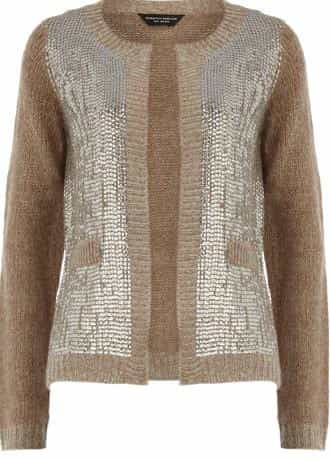 Mink sequin front cardigan      Was £35.00     Now £24.50