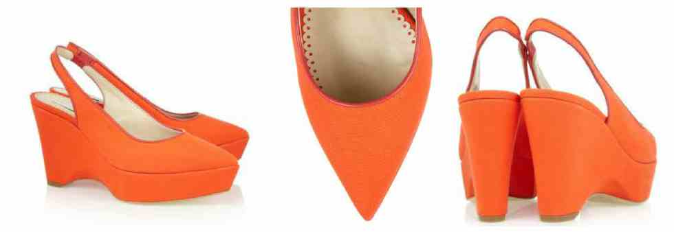 Stella McCartney Canvas wedge slingbacks £425