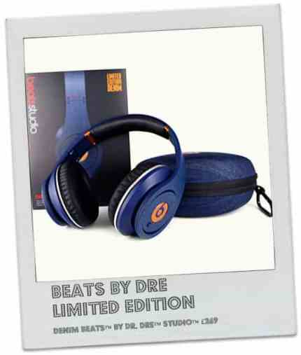 BEATS BY DRE Limited Edition Denim Beats™ by Dr. Dre™ Studio™ noise-cancelling headphones