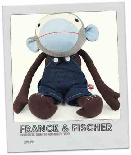 FRANCK & FISCHER Frederik denim monkey toy      £29.99