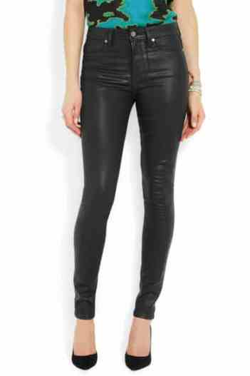 Paige Hoxton coated high-rise skinny jeans £220