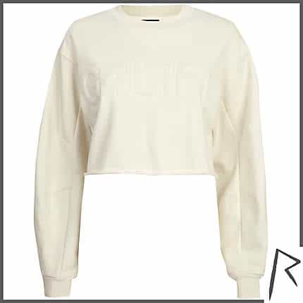 Cream Rihanna G4LIFE cropped sweatshirt