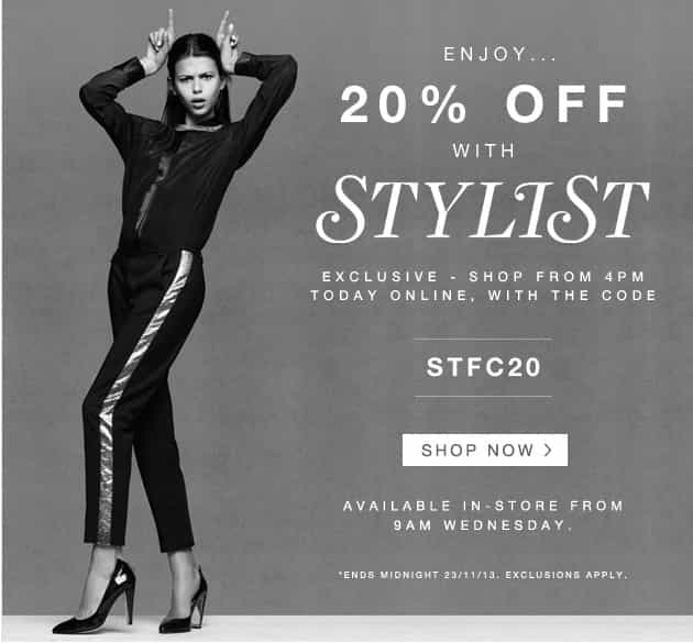 20% OFF VOUCHER CODE, FRENCH CONNECTION SALE
