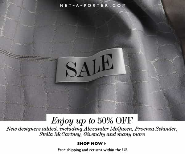NET-A-PORTER SALE, 50% OFF DESIGNER FASHION, DENIM LOVERS