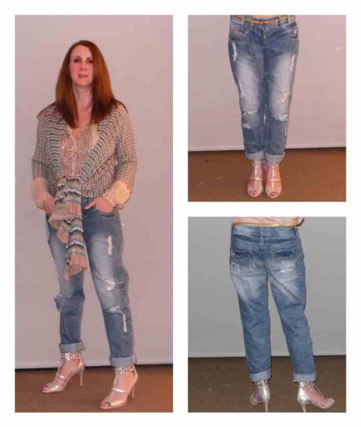 ripped boyfriend jeans, tried & tested, New Look, boyfriend jeans, distressed