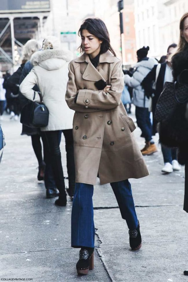 New_York_Fashion_Week-Fall_Winter_2015-Street_Style-NYFW-Leandra_medine-Trench_Coat-Clogs--790x1185