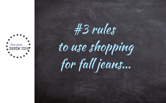 rules for fall jeans