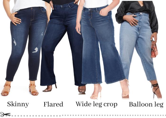 plus size curvy jean styles