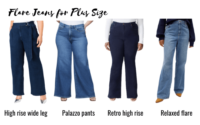 flare jeans for plus size