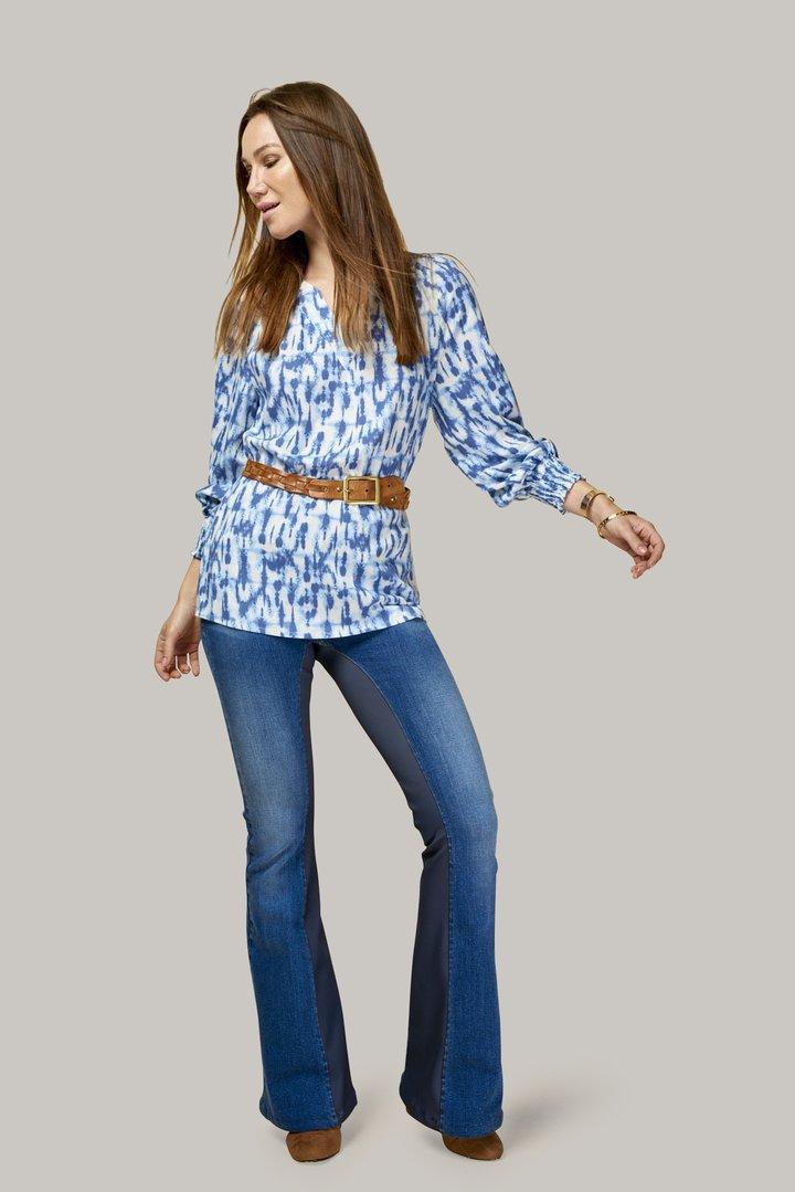 tie-dye blouse