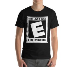 Rated E Black Unisex T-Shirt