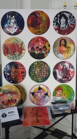 Handmålade LP-skivor