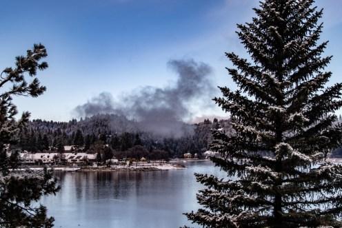 lake arrowhead in the winter