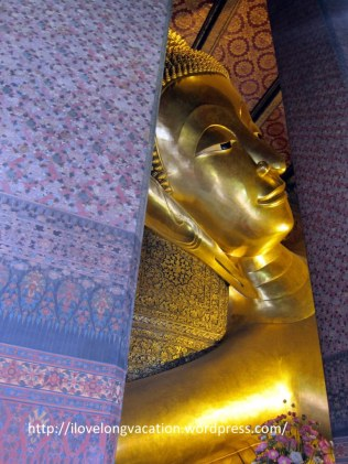 First glimpse of the Reclining Buddha