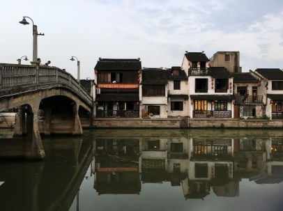 A view of the other side of the canal from Nan Chang Street.