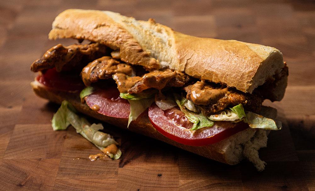 Fried Po'Boy sandwich using Whiting fish