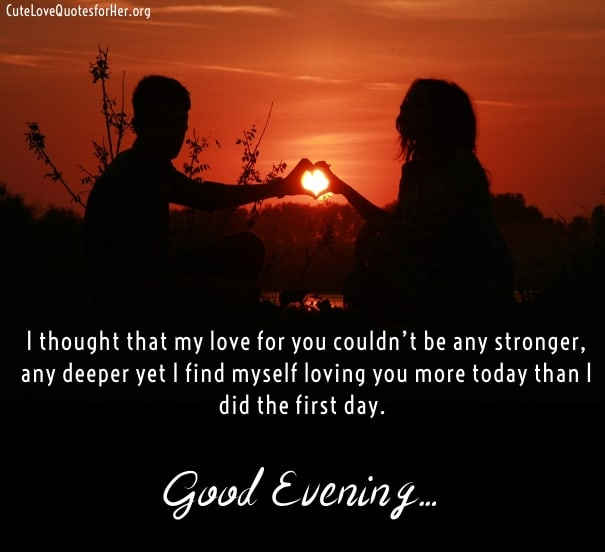 Sweet good evening images with quotes for lovers ilove messages good evening love quotes sayings greeting images m4hsunfo
