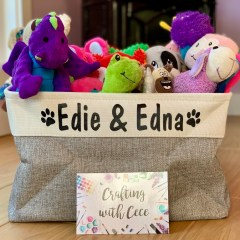 Personalized Pet Toy Bin – Review & Giveaway