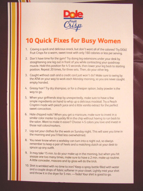 10 Quick fixes and tips for busy women
