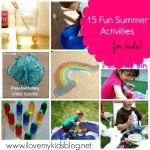 15 Fun Summer Activities for kids