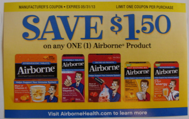 Save $1.50 off Airborne product coupon