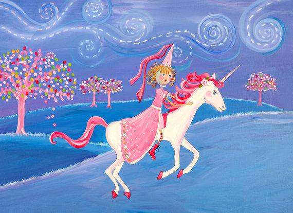 print with unicorn