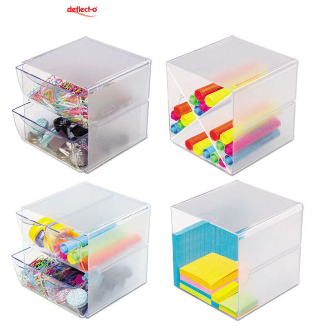 Deflect-o Desk Cube storage solution