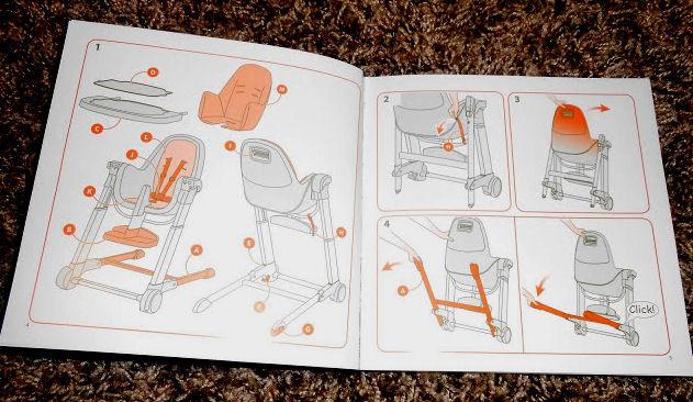 Inglesina high chair instructions