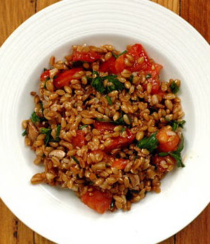 farro salad zesty dressing