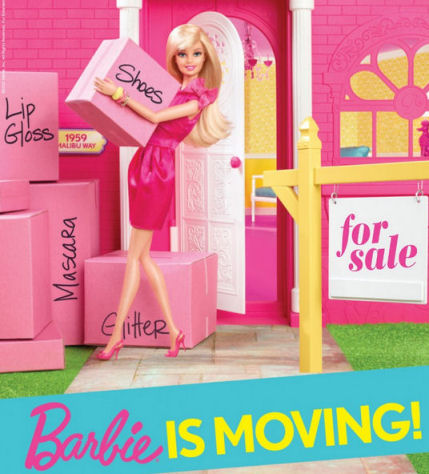 Barbie is moving