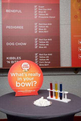 shugars and dye in dog food
