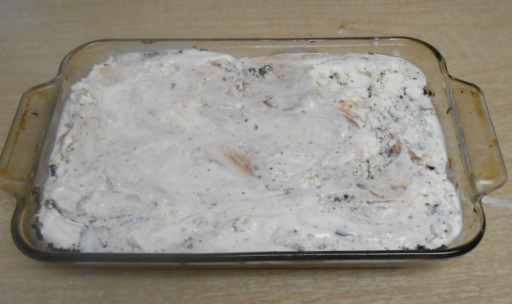 ice-cream-topping, spread evenly