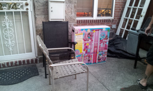 ups brought barbie dreamhouse